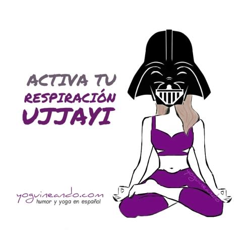 respiracion Ujjayi taza YoguineandoT con firma