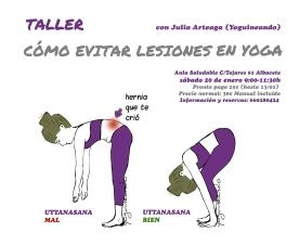 Taller como evitar lesiones en yoga