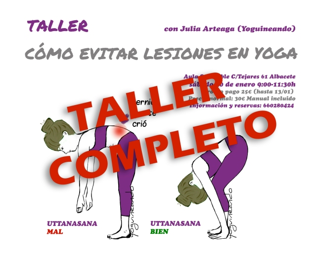 Taller como evitar lesiones en yoga COMPLETO