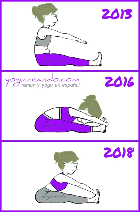 collage progreso paschimottanasana YoguineandoT