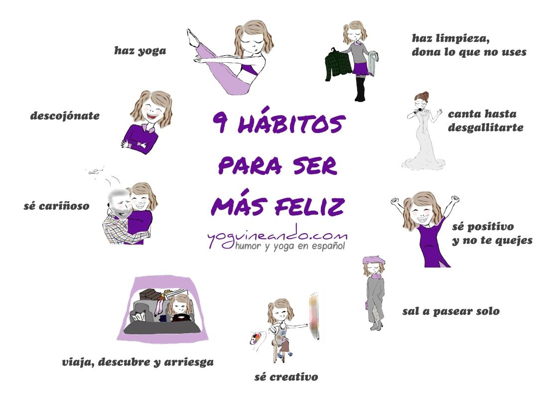 9 habitos para ser mas feliz YoguineandoT