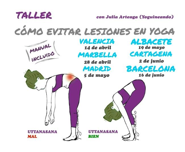 Taller como evitar lesiones en yoga fechas