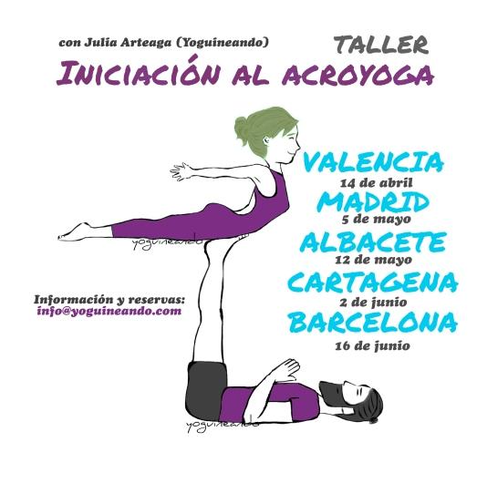 taller de INICIACIN AL ACROYOGA 6FECHAS