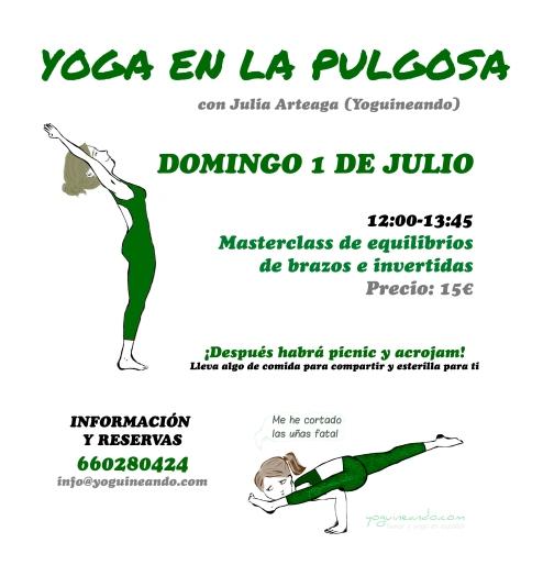 YOGA EN LA PULGOSA DOMINGO 1 JULIO