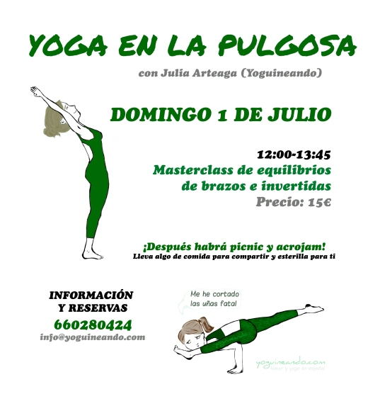 YOGA EN LA PULGOSA DOMINGO 1 JULIO